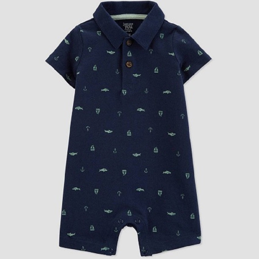 Just One You made by carter's Baby Boys' Shark and Ship Romper