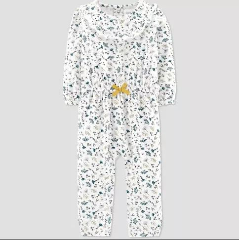 Carter's Baby Girls' Floral Jumpsuit