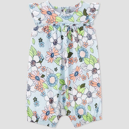Carter's Baby Girls' Floral One Piece Romper