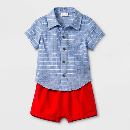 Cat & Jack Baby Boys' Striped Top and Bottom Set