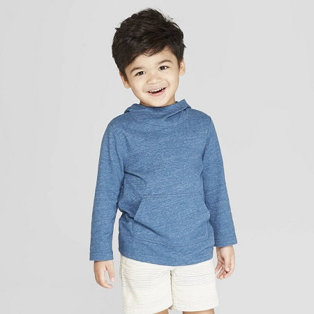 Cat & Jack Toddler Boys' Long Sleeve Shawl Hoodie T-Shirt