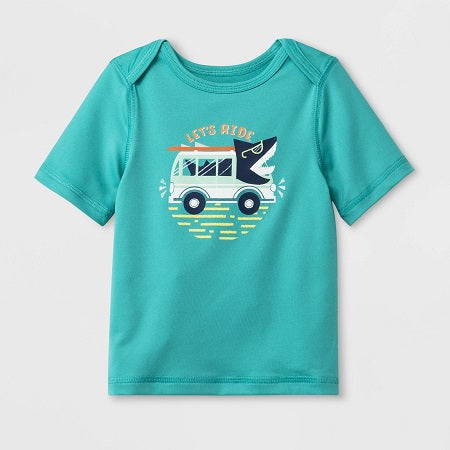 Cat & Jack Toddler Boys' Short Sleeve Rash Guard