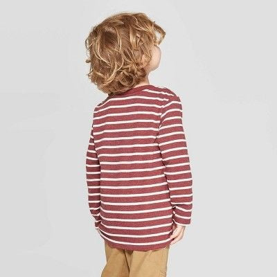 Cat & Jack Toddler Boys' Striped Long Sleeve T-Shirt