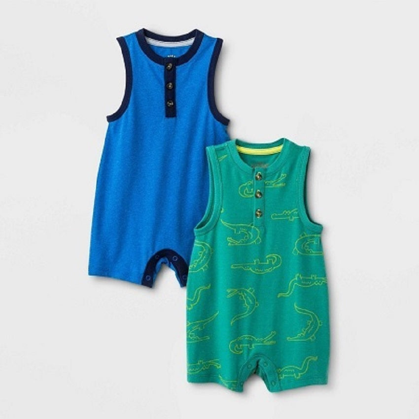 Cat & Jack Baby Boys' 2 Pack Rompers