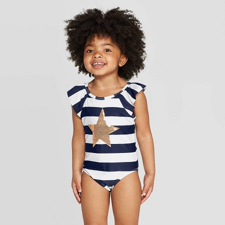 Cat & Jack Baby Girls' Stripe One Piece Swimsuit