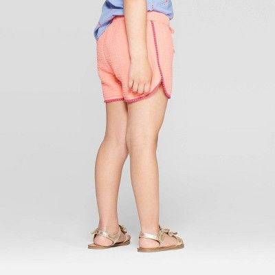 Cat & Jack Girls' Crinkle Gauze Fashion Shorts