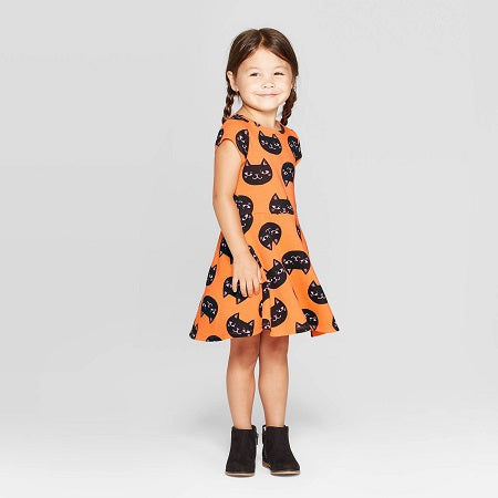 Cat & Jack Baby Girls' 'Cat' Halloween Dress