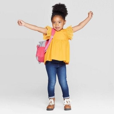 Cat & Jack Toddler Girls' Flutter Short Sleeve Blouse