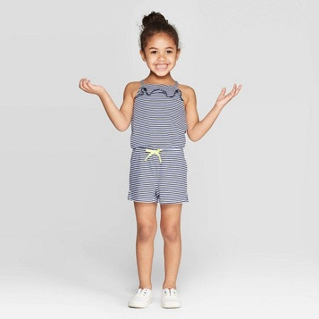 Cat & Jack  Toddler Girls' Front Ruffle Romper