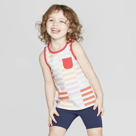 Cat & Jack Toddler Girls' Striped Tank Top