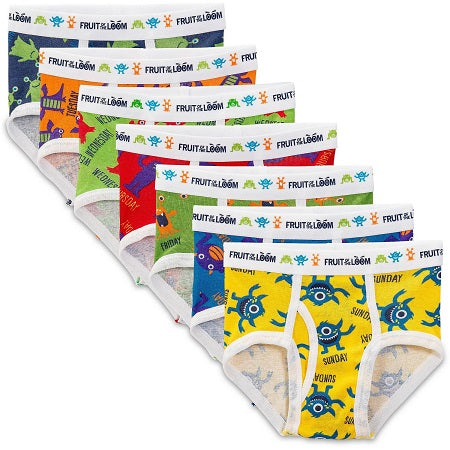 Fruit of the Loom Boys' Days of The Week Briefs, 7-Pack