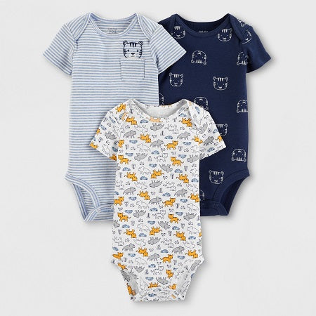 Carter's Baby Boy's' 3 pack Bodysuits