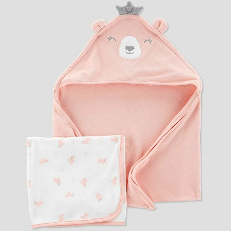 Just One You made by carter's Baby Girls' Bear Bath Towel Set