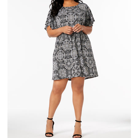 NY Collection Plus Size Hardware Shift Dress