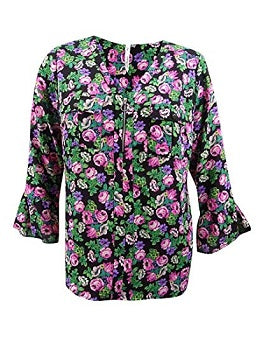 NY Collection Plus Size Floral-Print Top