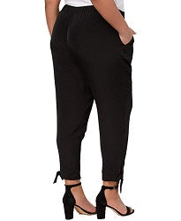 NY Collection Plus Size Tapered Tie-Hem Pant