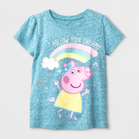 Peppa Pig Toddler Girls' Short Sleeve T-Shirt