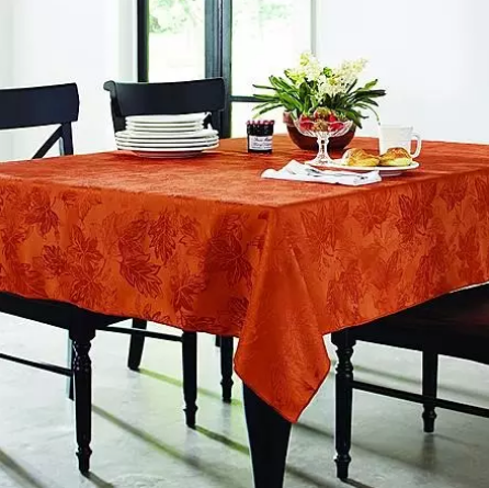 Essential Home Oblong Tablecloth - Damask Spice - 5x7 ft