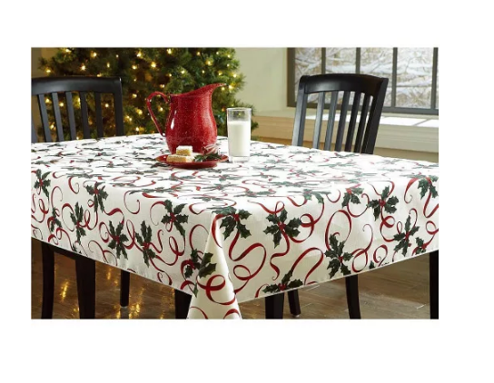 Essential Home Printed Fabric Tablecloth