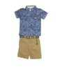 Sisero Boy's 2 Piece Set Short Sleeve Polo Shirt & Short