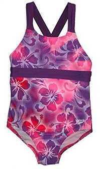Speedo Girl's Hawaiian Thick Strap Cross Back Swimsuit