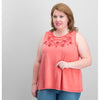 Style & Co Plus Size Embellished Swing Sleeveless Top
