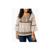 Style & Co. Women's Mixed-Print Peasant Blouse.
