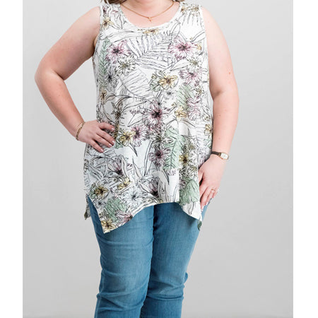 Style & Co. Plus Size Printed Tank Top