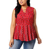Style & Co. Women's Lace-Up Sleeveless Blouse