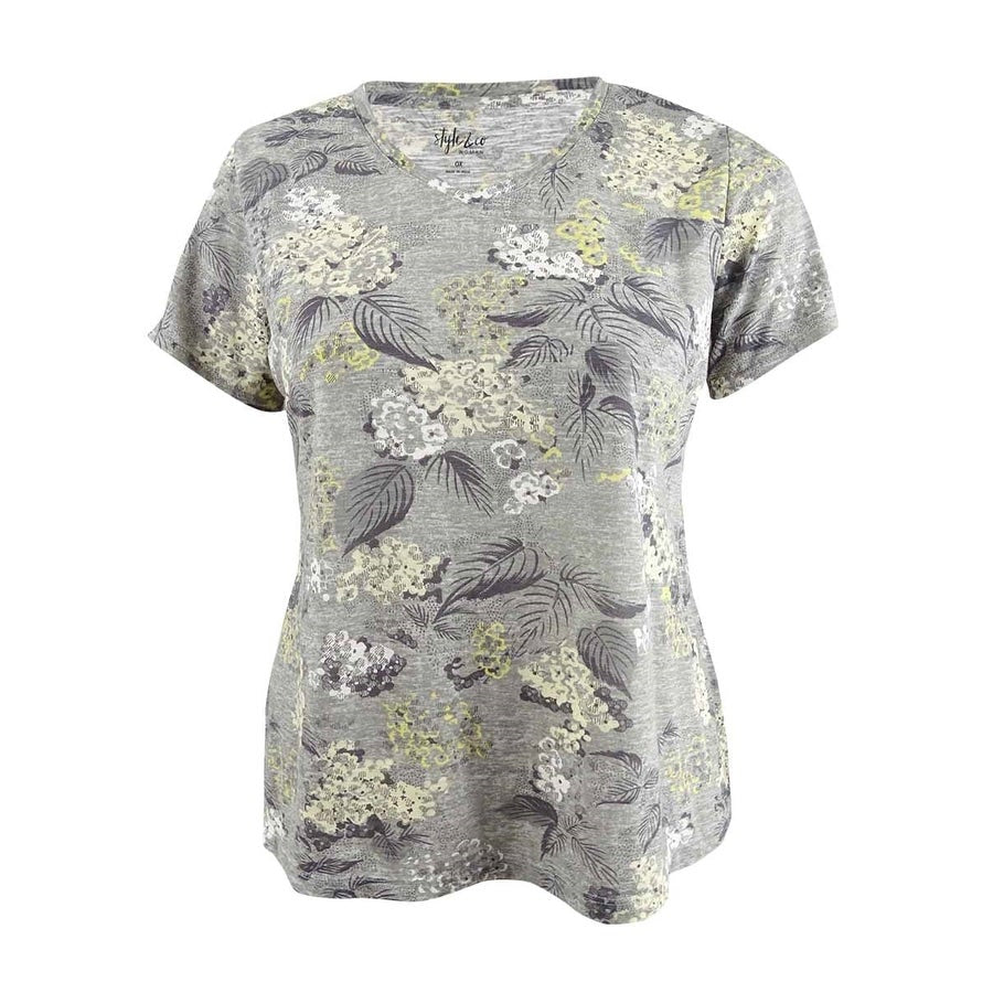 Style & Co. Women's Plus Size Tie-Dyed T-Shirt