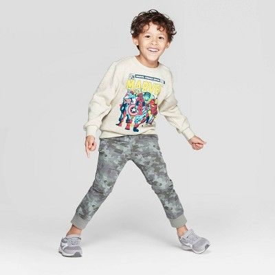 Marvel Toddler Boys' Crew Fleece Sweatshirt