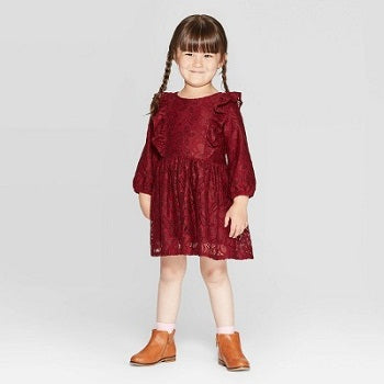 Cat & Jack Toddler Girls' Lace Dress