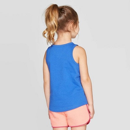 Cat & Jack Toddler Girls' 'Sharks' Graphic Tank Top