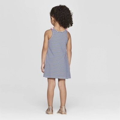 Cat & Jack A-Line Striped Sleeveless Dress