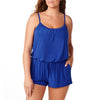 Simply Slim Women's Plus-Size Romper Swimsuit