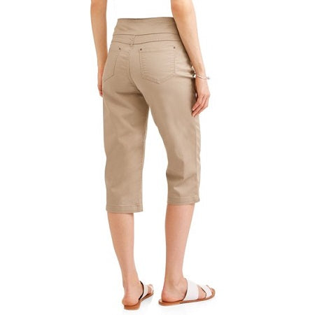 Time and Tru  Women's Plus Size Pull-on Capri Pants