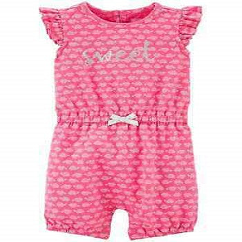Carter's Baby Girls' Turtle Print One Piece Romper