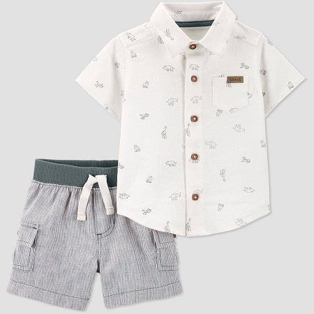 Carter's Baby Boys' Safari Top and Bottom Set