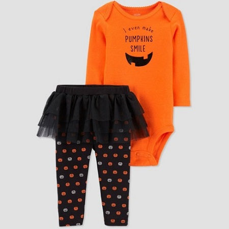 Carter's Baby Girls' Halloween Pumpkin Tutu Sleep N' Play