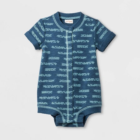 Cat & Jack Baby Boys' Slub French Terry Button Romper