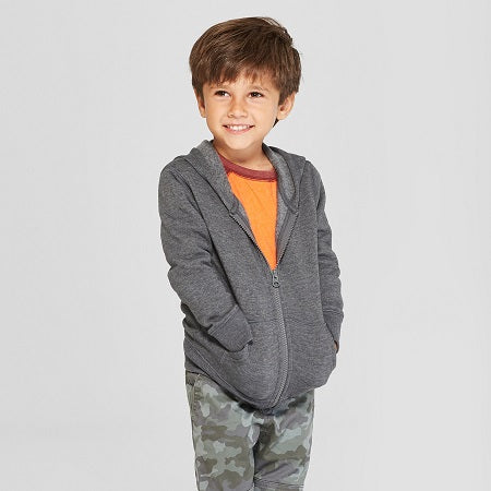 Cat & Jack Toddler Boys' Fleece Zip-Up Hoodie