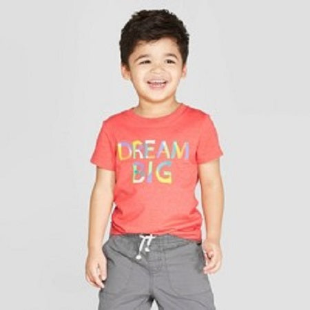 Cat & jack Toddler Boys' Short Sleeve Dream Big Graphic T-Shirt