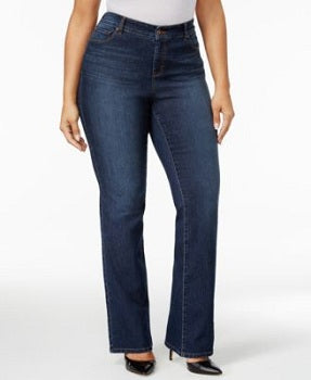 Style & Co Womens Plus Tummy Control Bootcut