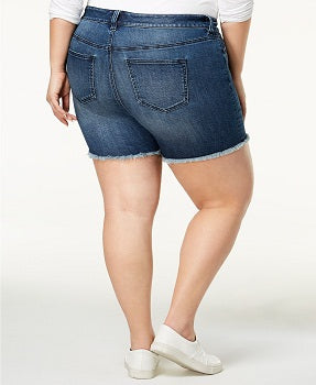 Celebrity Pink Plus Size High-Waisted Denim Shorts
