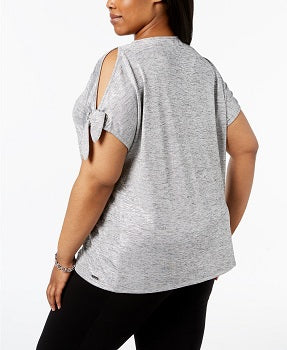 Calvin Klein Plus Size Cold-Shoulder Top