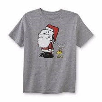 Peanuts Schulz Snoopy Christmas Boy's Graphic T-Shirt