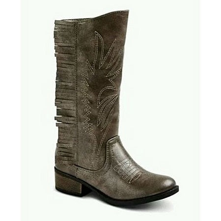 Stevies Girl's High Five Fringe Cowboy Boot