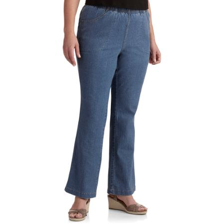 Boot Leg Just My Size Women Pull-On Denim Jeans,