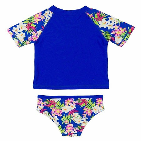 Tommy Bahama Girls Koi Rash Guard and Swim Bottoms Set