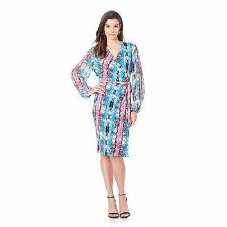 G By Giuliana Rancic Printed Brassan Wrap Dress